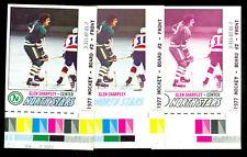 1977-78 TOPPS LOA GLEN SHARLEY #158 PROG. PROOF BARS SET OF 10 MINT UNIQUE