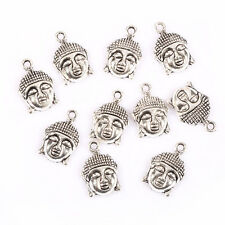 10pcs Tibetan Silver Buddha head Charms  Pendant fit DIY Bracelet 22*15mm