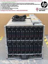 HP BLc7000 G3 16x HP BL460c Gen8 V2 384-Core 8TB RAM 10GbE Blade Server Solution
