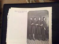 74-9 ephemera reprint picture crumlin memorial hall usherettes newbridge 1931