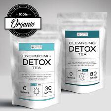 30 Day Organic Herbal Detox Tea AM & PM: Skinny Tea, Colon Cleanse, Weight Loss