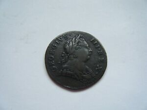 George III non-regal and US colonial halfpenny 1773, 'Moody Pouty family'