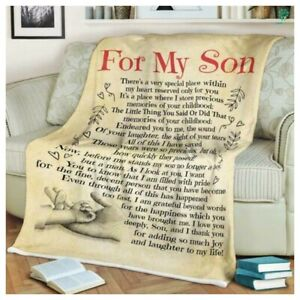 To My Son Blanket From Mom To My Son Sherpa Fleece Blanket