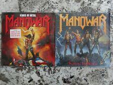 MANOWAR 2 LP lot Fighting the World - Kings of Metal both still in shrink wrap