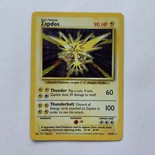 Zapdos 16/102 Base Set Holofoil Rare Pokemon Card FREE UK POSTAGE