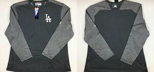 MAJESTIC Los Angeles Dodgers therma base long sleeve sweatshirt Gray-white sz L