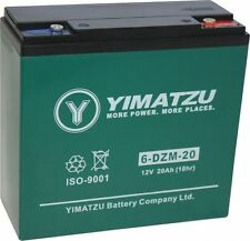 Yimatzu EV12200 12 Volt, 20Ah Gel e-Bike Battery Replaces 6-DZM-20 Battery