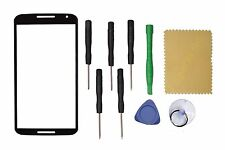 Black For Motorola Google Nexus 6 Front Outer Screen Glass Lens Replacement