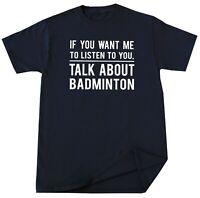Badminton T-shirt Funny Badminton Player Lover Birthday Christmas Gift for Her