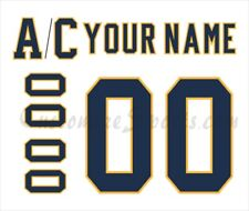 Nashville Predators Customized Number Kit for 2020 Winter Classic Jersey