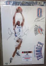Russell Westbrook Signed 11x17 Thunder Decal Photo Sheet - Global Authentics