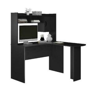 Mainstays 9871303WCOM L-Shaped Desk with Hutch - Espresso