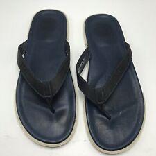 UGG Bennison II Navy Blue Leather Flip Flops Men's sz 13