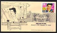 Elvis Presley #2721 Unknown Cachet Memphis Music Cancel Tan Envelope (Lot 275)