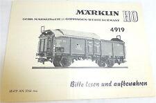 4919 Manuel Märklin 68 419 à 0764 ma