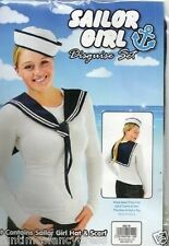 HELLO SAILOR Matey SAILOR Girl Set Costume Cappello & Sciarpa Set Fancy Dress