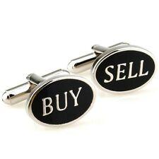 Rodio Plateado Esmalte Negro comprar y vender Gemelos para comerciantes acciones-Wall Street
