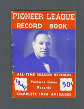 Pioneer League 1949 Baseball Record Book (rare)