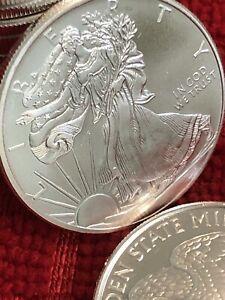 1/2Troy Oz 999 Fine Silver Walking Liberty American Eagle Golden State Mint🔥