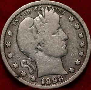 1898-S San Francisco Mint Silver Barber Quarter