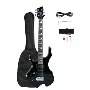 Glarry Burning Fire HSH 36inch Left Handed Electric Guitar BLACK with gig bag