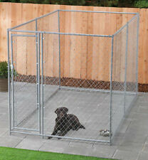 Chain Link Dog Kennel Outdoor Kenels For Large Dogs Medium 10 x 6 Foot Enclosure