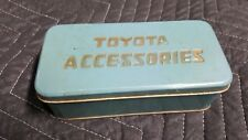 Rare Vintage Tin Toyota Accessories Box
