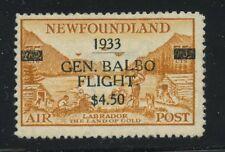 Newfoundland 1933 Air Mail Balbo $4.50 on 75c #C18 MNH