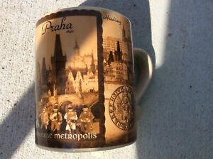 Praha 1840 Czech Republic souvenir coffe tea mug cup mug suvenyry landmarks EUC