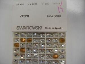 12 swarovski oval stones,14x10mm crystal #4100  SPECIAL PRICE