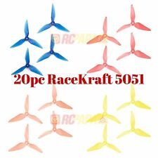RaceKraft 5051 Tri-Blade Propellers Props for FPV Quad Drone Race Mix Color 20c