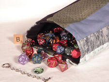 Striped DICE BAG — for Game Parts, Toys, Sewing Notions, Letter Tiles — (Bag B)