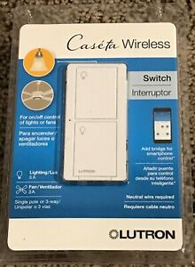 NEW Lutron Caseta Wireless Smart Lighting Switch - White PD-5ANS-WH-R