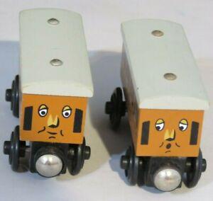 Genuine Thomas Friends Wooden Train Railroad - Annie & Clarabel - Learning Curve