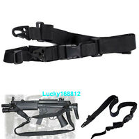 Tactical 3 Three Point Rifle Gun Sling Strap System Airsoft 3 Points Gun Sling
