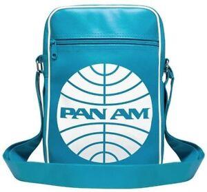 Retro - Airline - USA - Pan Am Logo - Cabin - Shoulder Bag - Medium, turqouise