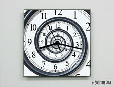 Square Time Travel Wall Clock