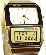 VINTAGE MENS CASIO NEW OLD STOCK TELEMEMO 20 ANA DIGI DIGITAL LCD REPAIR AB 200G