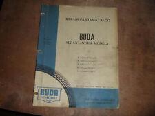 Buda 6 Cylinder Engine K 369 4 116 X 4 34 Parts Catalog Manual