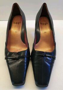 HOGL Women's Black Leather Bicycle Toe Formal Court Shoe UK 5.5 C5