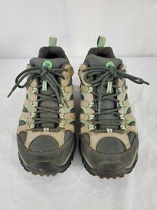Merrell Women's Moab J24462 Waterproof Hiking Shoes Drizzle/Mint Size 10 M