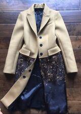 Burberry Prorsum Cashmere Printed Calf Hair Coat NWT Size-34