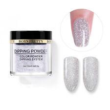 10ml BORN PRETTY Siver Dipping Powder Natural Dry Long Lasting French Nail Art
