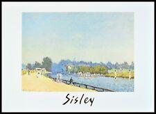Alfred Sisley The Road from Hampton Court Poster Kunstdruck im Rahmen 50x70cm