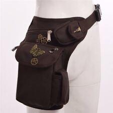 Vintage Steampunk Gear Plague Bird Waist Bag Punk Rock Leg Hip Pack Belt Bag