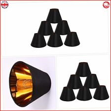 ONEPRE Black Lamp Shades with Gold Lining Clip on light shades Candle Chandelier