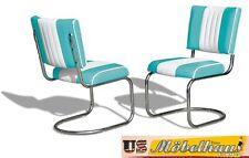 CO-27 Türkis Bel Air Möbel 2 Stühle Swingstuhl Diner Küchenmöbel Küchenstuhl USA