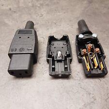 Kaltgeräte Stecker Gerätekupplung Gerätestecker 250 V 10 A schwarz IEC 069300