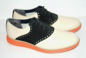 Men's COLE HAAN Lunargrand K12 C11244 161 Leather Shoes Beige & Blue Size 11 M