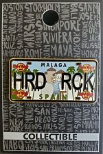HARD ROCK CAFE MALAGA LICENSE PLATE PIN **BRAND NEW**
